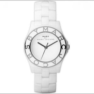 Marc Jacobs White and Gold Ceramic Watch